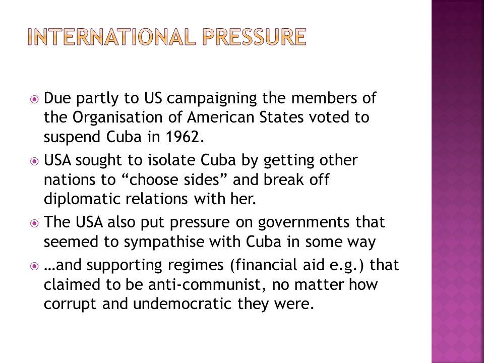 International pressure