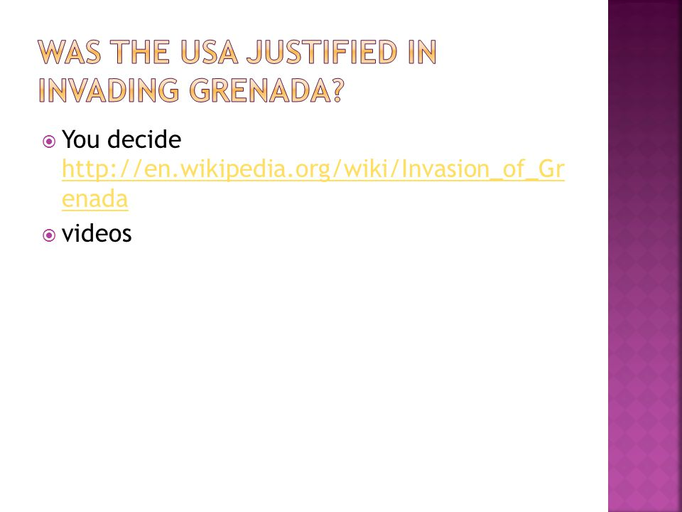 Was the usa justified in invading Grenada