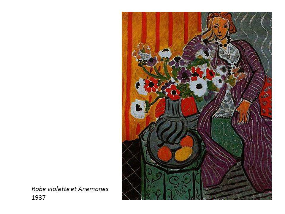 Robe violette et Anemones 1937