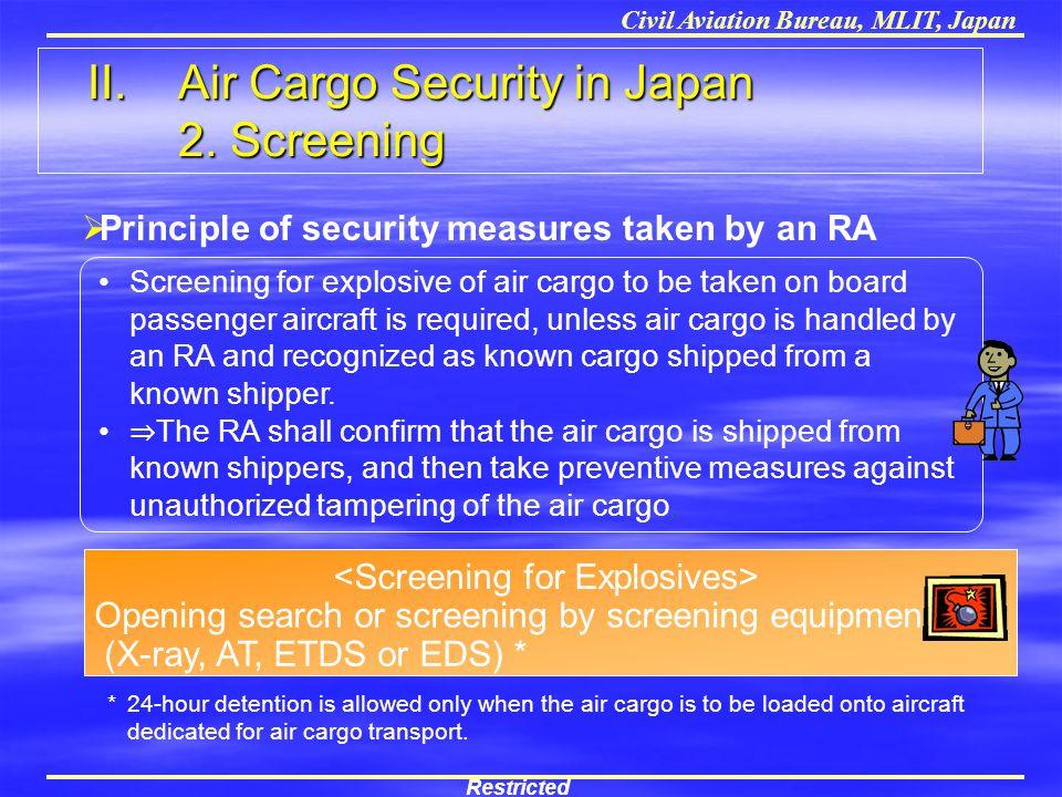 <Screening for Explosives>