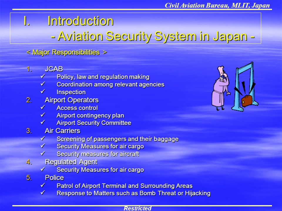 I. Introduction - Aviation Security System in Japan -