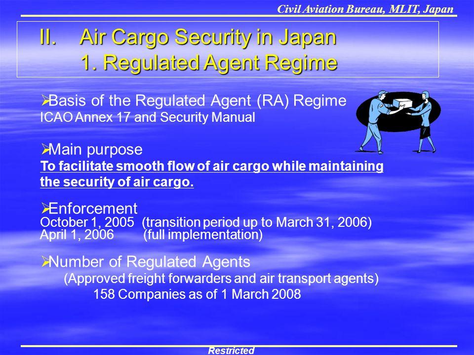 II. Air Cargo Security in Japan 1. Regulated Agent Regime