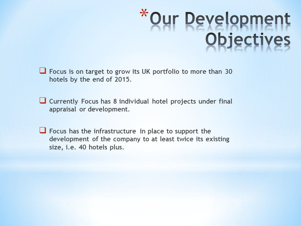 Our Development Objectives