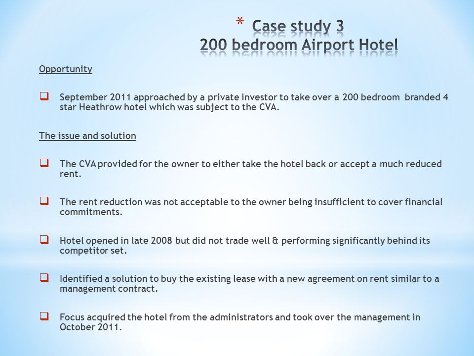 Case study bedroom Airport Hotel