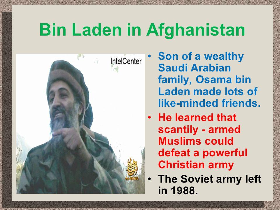 Bin Laden in Afghanistan