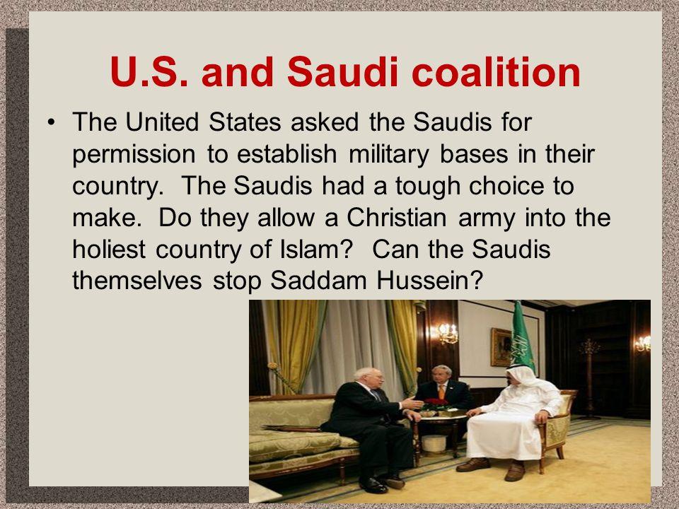 U.S. and Saudi coalition