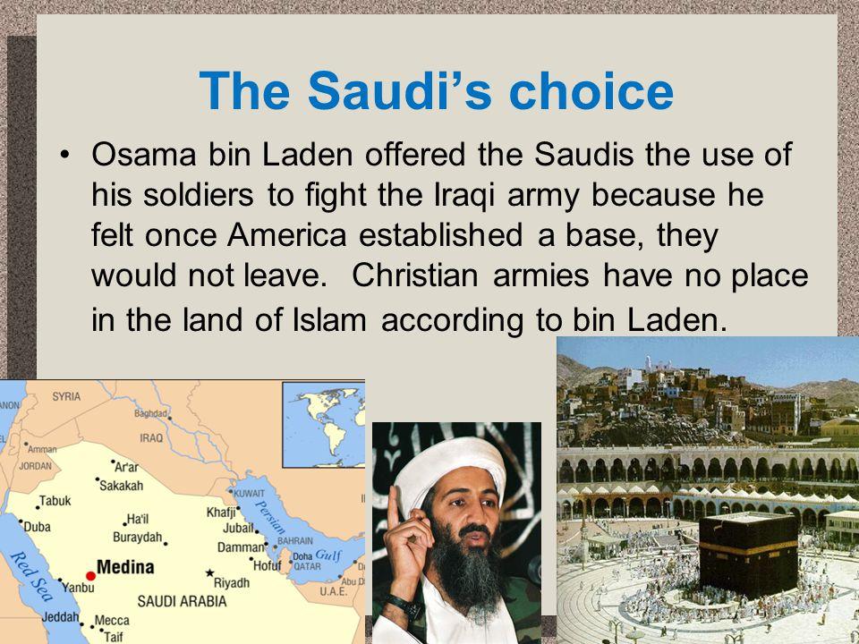The Saudi's choice