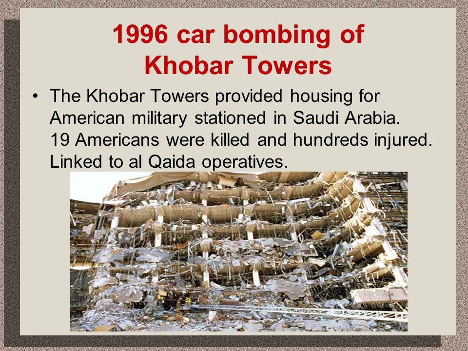 1996 car bombing of Khobar Towers