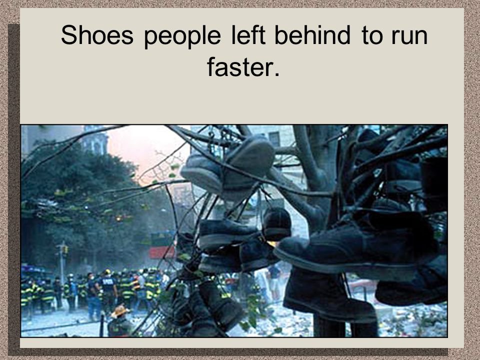 Shoes people left behind to run faster.