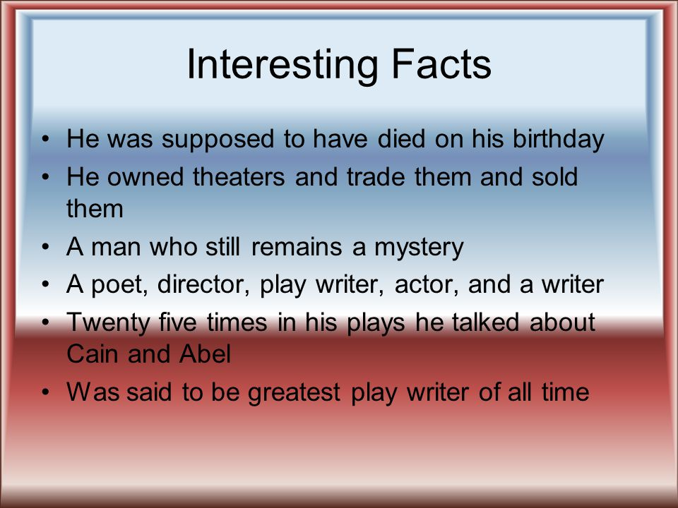 Interesting Facts He was supposed to have died on his birthday