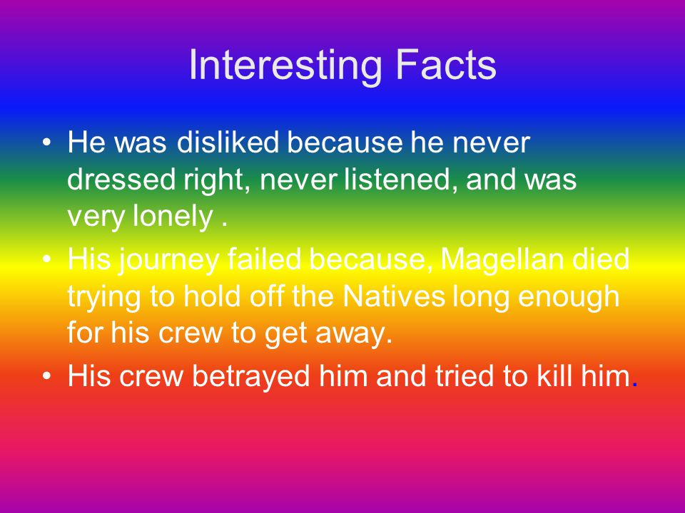 Interesting Facts He was disliked because he never dressed right, never listened, and was very lonely .