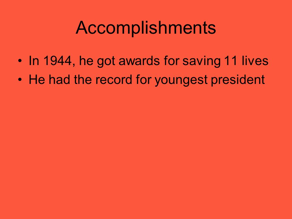 Accomplishments In 1944, he got awards for saving 11 lives