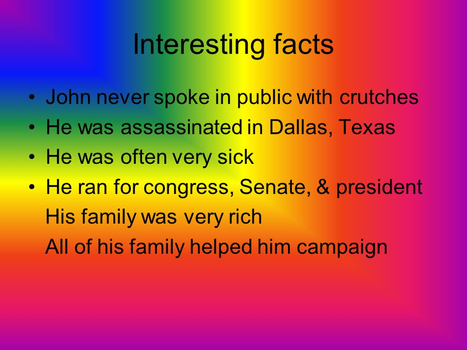 Interesting facts John never spoke in public with crutches