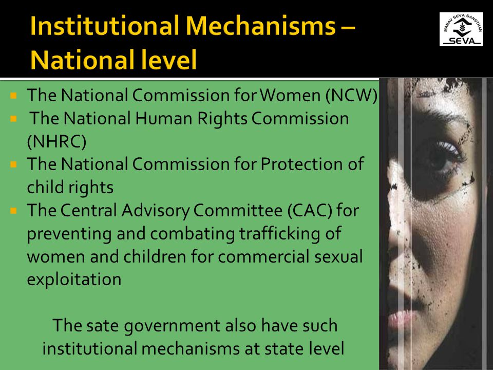 Institutional Mechanisms – National level