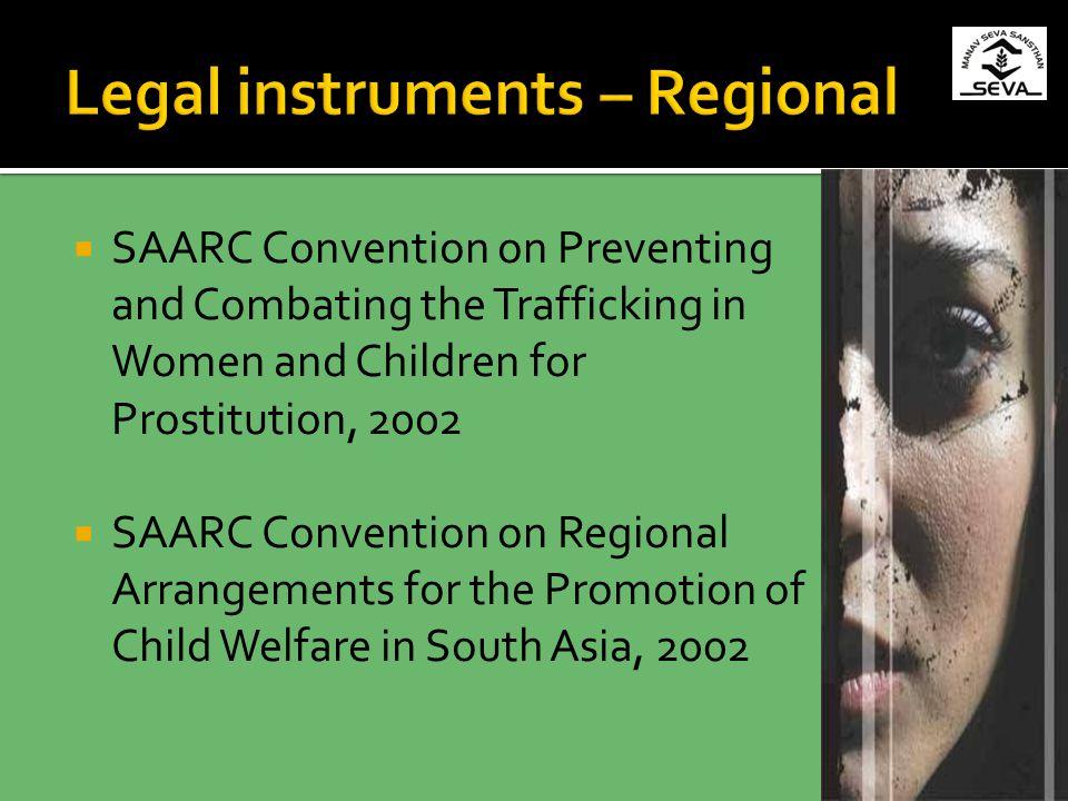 Legal instruments – Regional