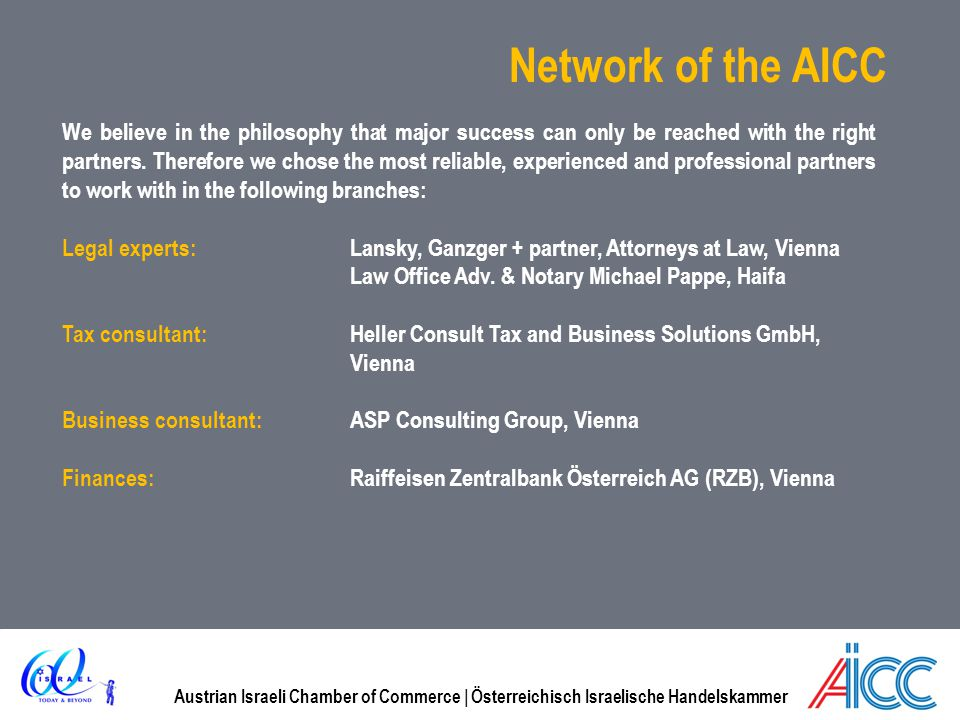 Network of the AICC