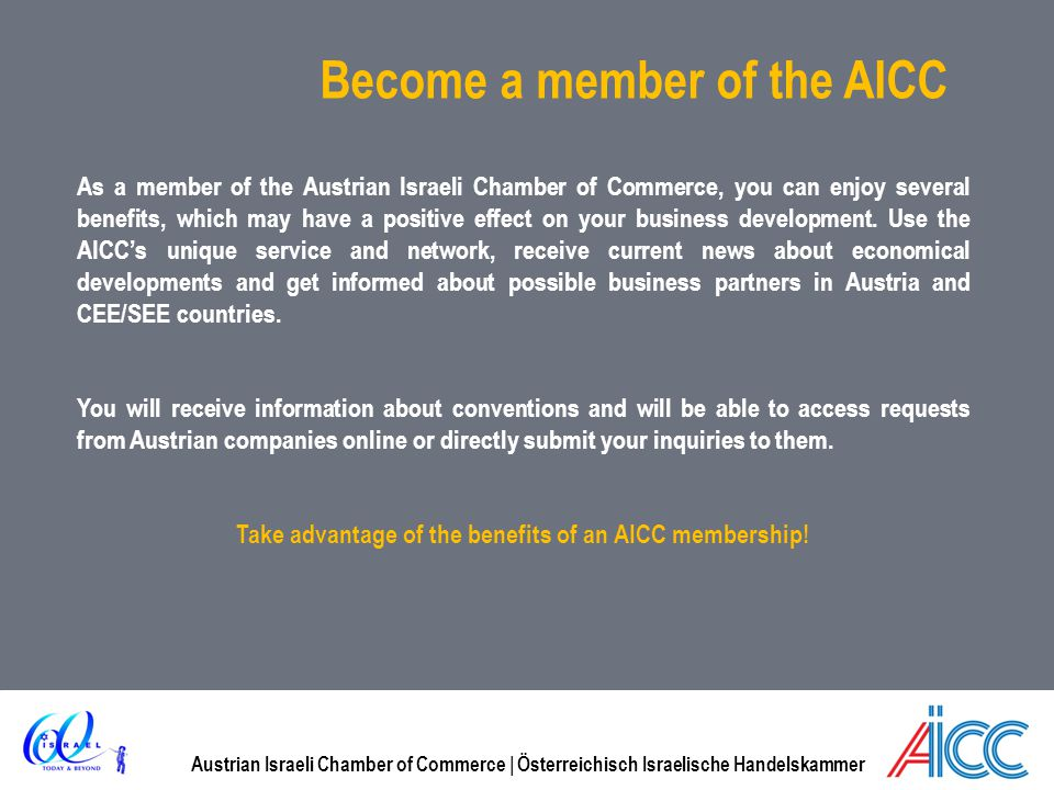 Become a member of the AICC