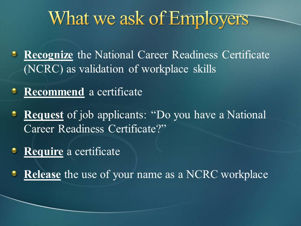 What we ask of Employers