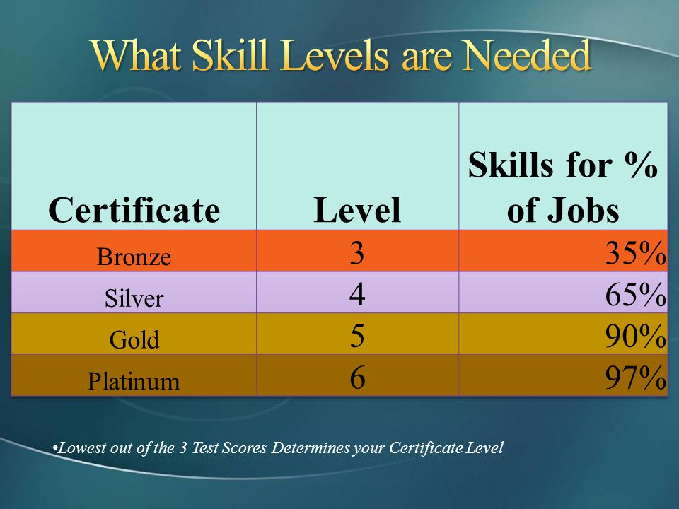 What Skill Levels are Needed