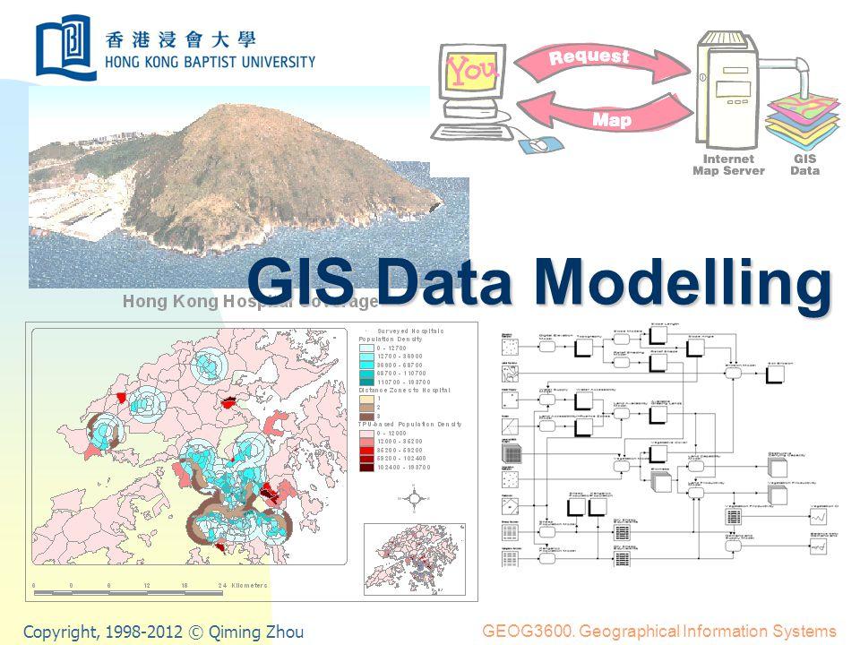 Prof. Qiming Zhou GIS Data Modelling GIS Data Modelling