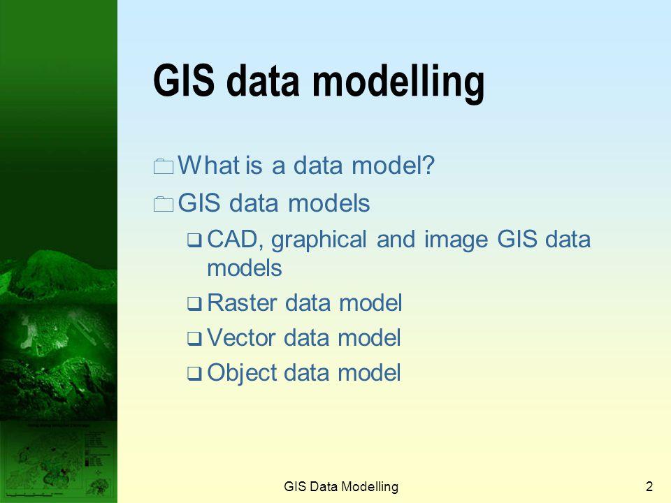 GIS data modelling What is a data model GIS data models
