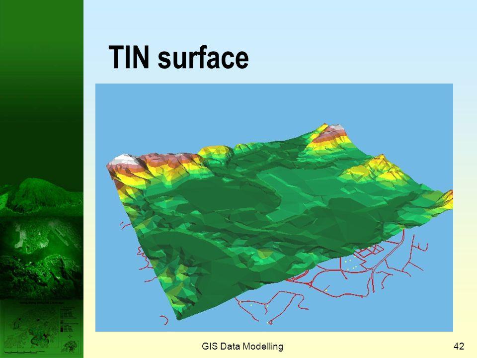 Prof. Qiming Zhou TIN surface GIS Data Modelling GIS Data Modelling
