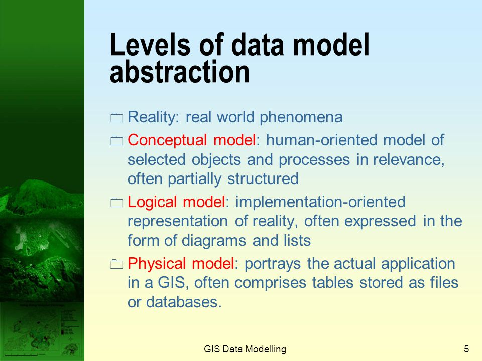 Levels of data model abstraction