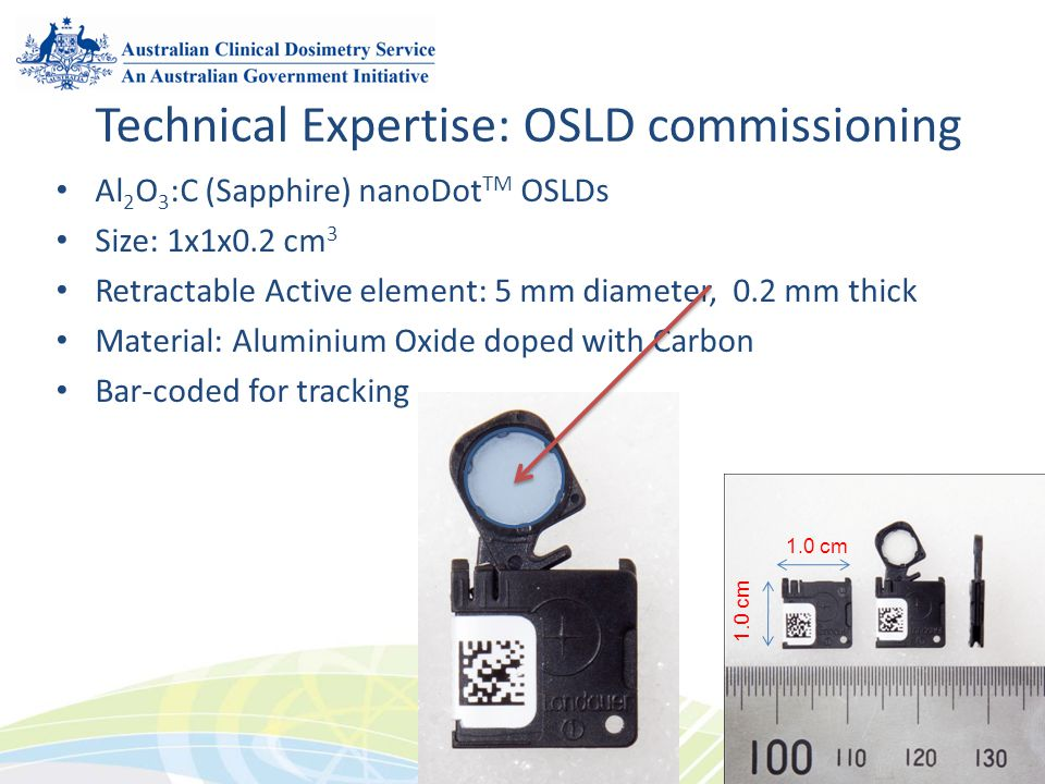 Technical Expertise: OSLD commissioning