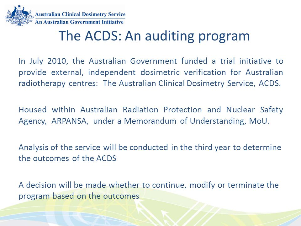 The ACDS: An auditing program