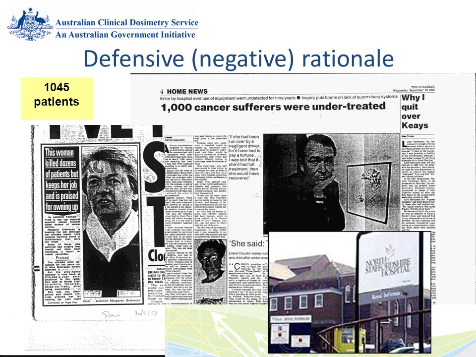 Defensive (negative) rationale
