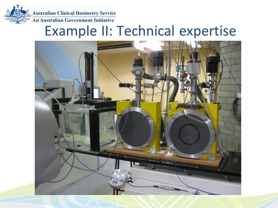 Example II: Technical expertise