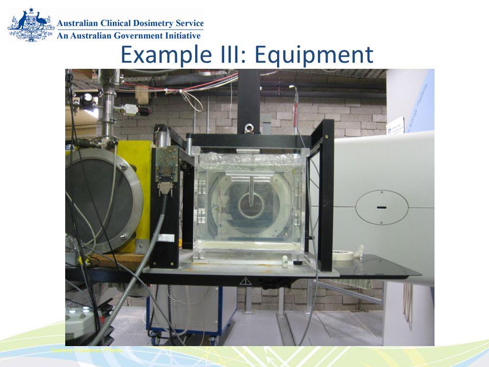 Example III: Equipment