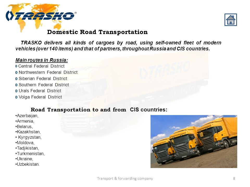 Domestic Road Transportation