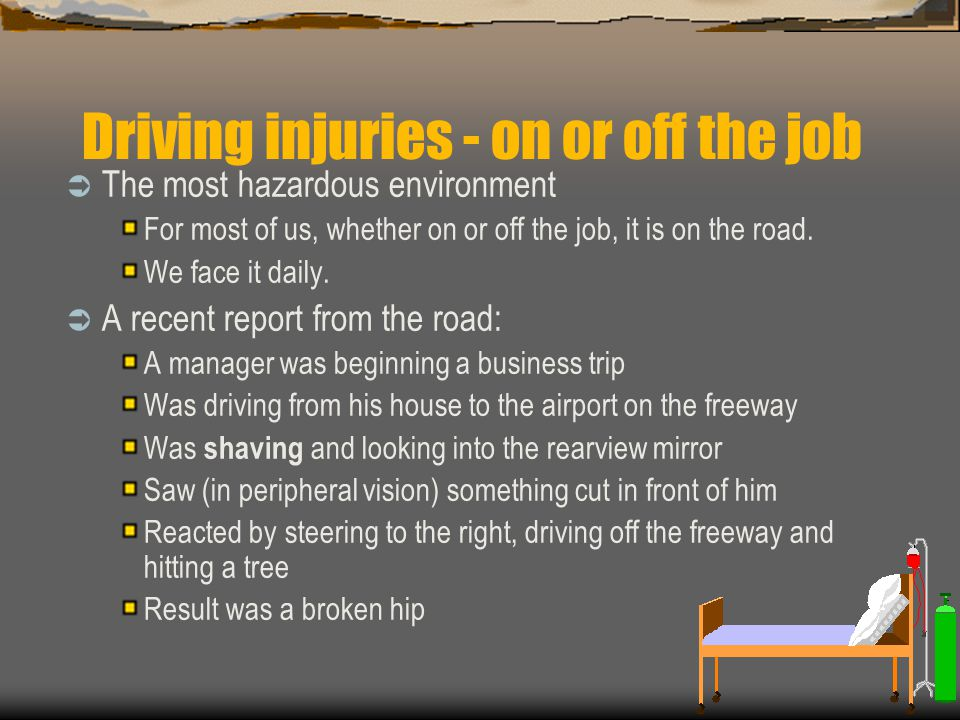 Driving injuries - on or off the job