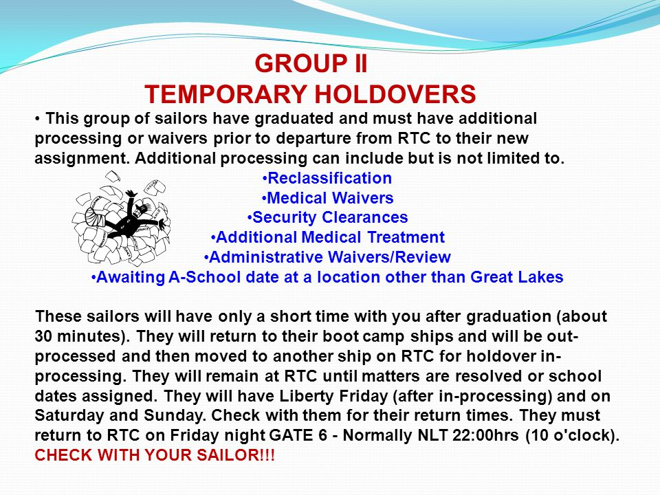 GROUP II TEMPORARY HOLDOVERS