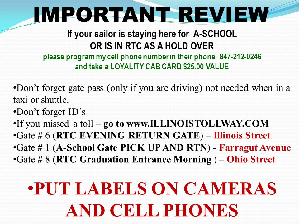 IMPORTANT REVIEW PUT LABELS ON CAMERAS AND CELL PHONES