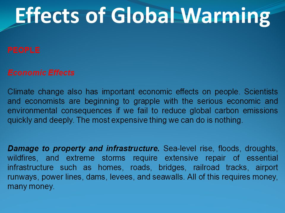 global warming environmental effects essay Introduction as a global environmental issue of concern, controversies have been presented for and against global warming such controversies have stemmed from its causes as well as effects.