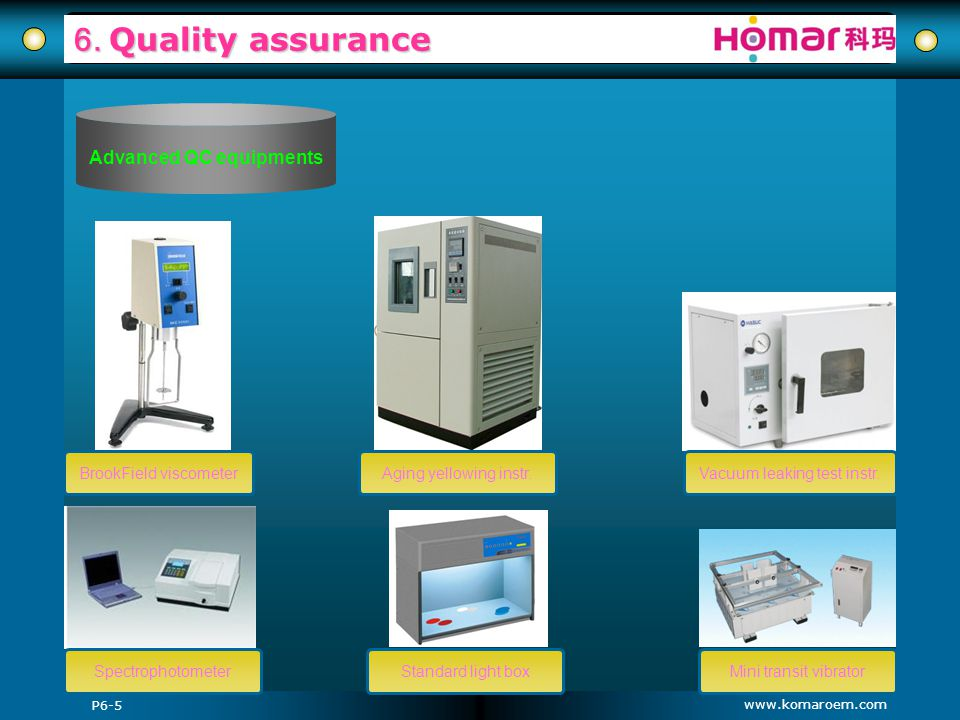Advanced QC equipments