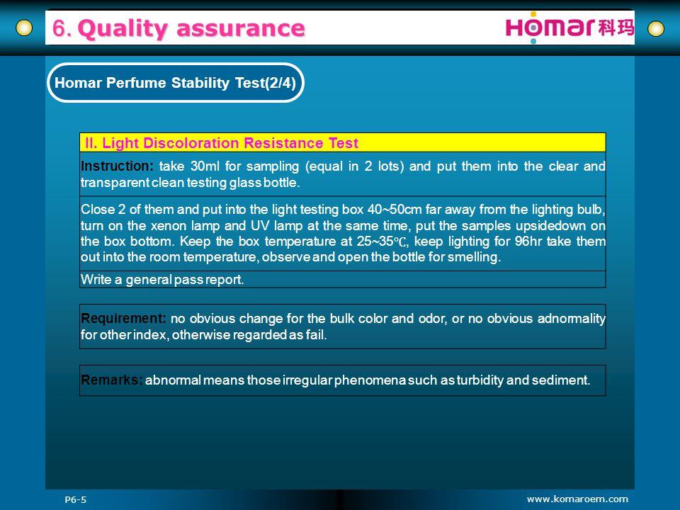 Homar Perfume Stability Test(2/4)