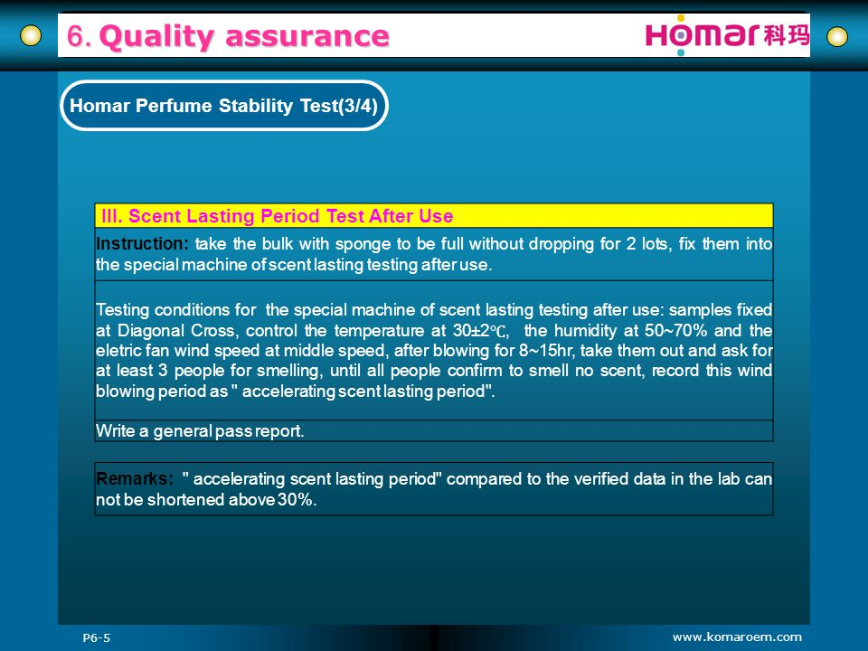 Homar Perfume Stability Test(3/4)