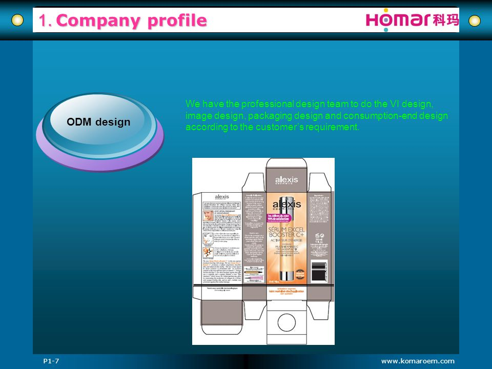 1. Company profile ODM design
