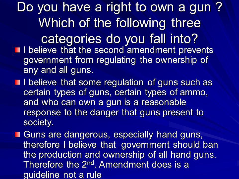 Do you have a right to own a gun