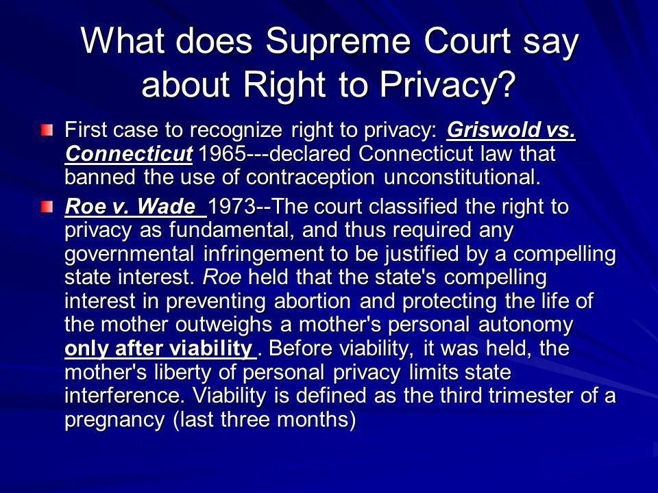 What does Supreme Court say about Right to Privacy