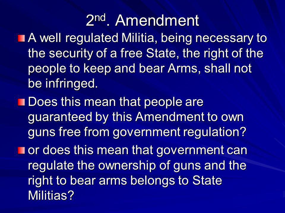 2nd. Amendment