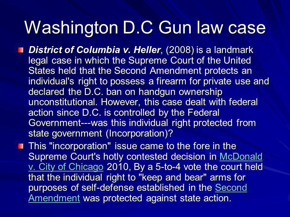 Washington D.C Gun law case