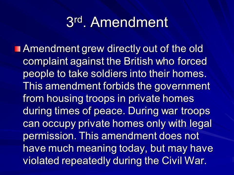 3rd. Amendment