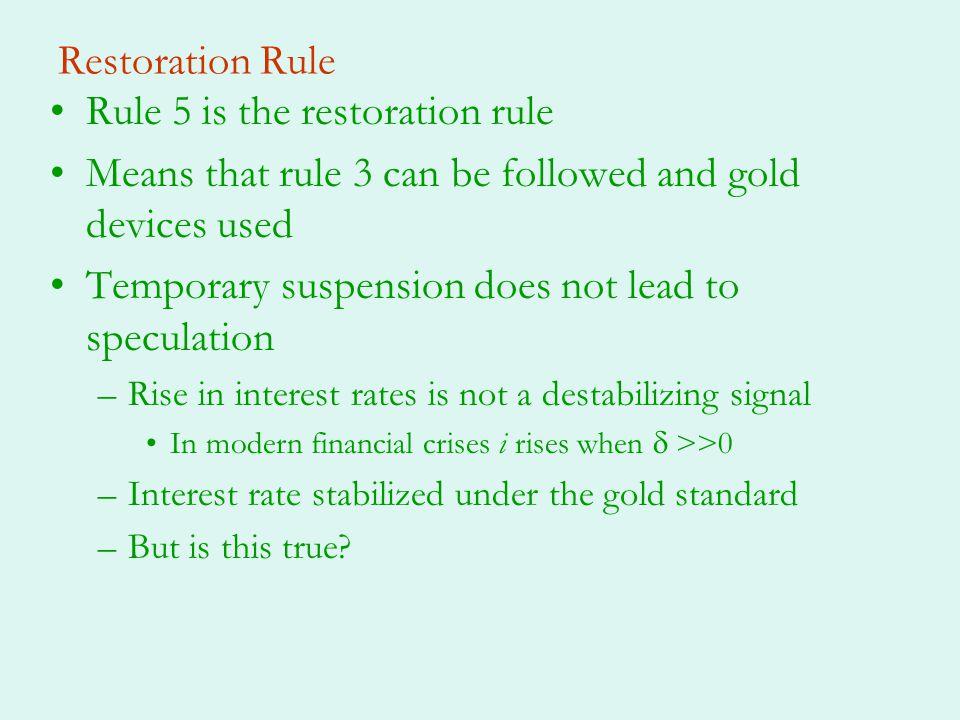 Rule 5 is the restoration rule