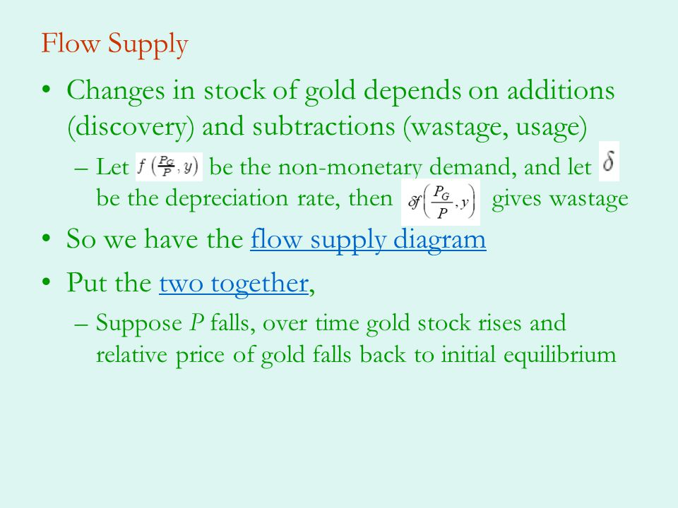 So we have the flow supply diagram Put the two together,