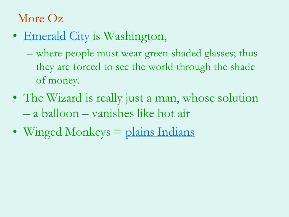 Emerald City is Washington,