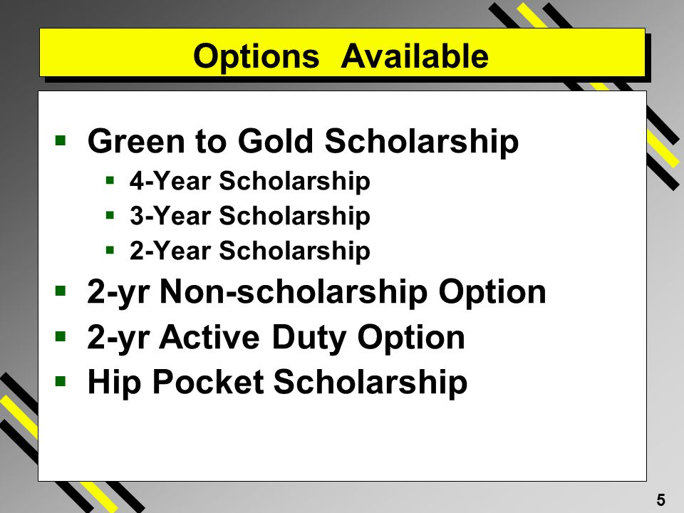 Green to Gold Scholarship